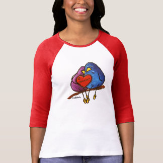 """Chocolate Valentine"" Womens Raglan 3/4 Sleeve T T-Shirt"
