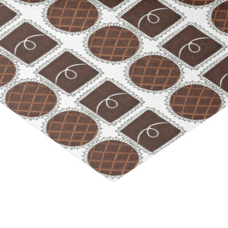 Chocolate Valentine's Day Candy Chocoholic Tissue Tissue Paper