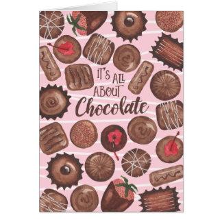 Chocolate -Valentine's Day Card -CUSTOMIZE