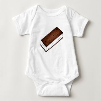Chocolate Vanilla Ice Cream Sandwich Junk Food Baby Bodysuit