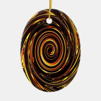 Chocolate Vortex 02 Ceramic Oval Decoration