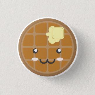 Chocolate Waffle 3 Cm Round Badge