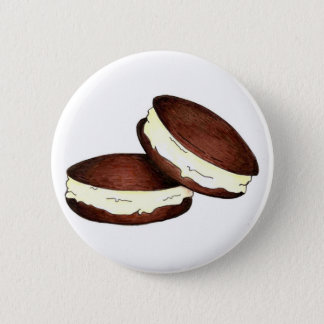 Chocolate Whoopie Pie Pies Maine PA Dutch Foodie 6 Cm Round Badge