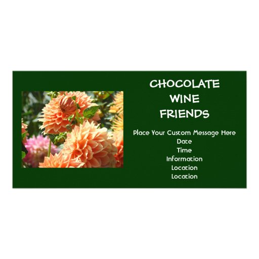 Chocolate Wine Friends Event Invitations custom Photo Cards