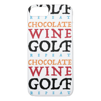 Chocolate Wine Golf iPhone Case