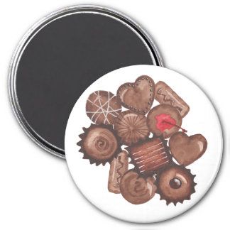 Chocolates Magnet -Chocolate Watercolor Drawings