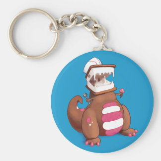 Chocolatey-Rex Basic Round Button Key Ring