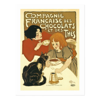 Chocolats Vintage French Ad Postcard