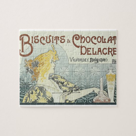 Chocoloate Art Nouveau Jigsaw Puzzle