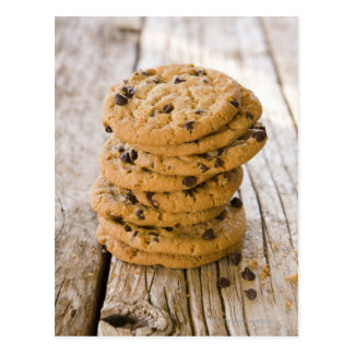 chocolte chip cookies 2 postcard
