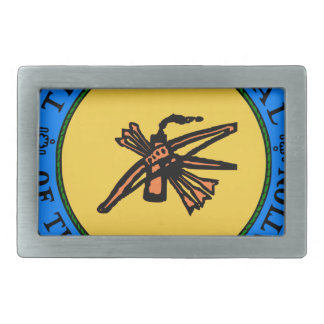 Choctaw Seal Rectangular Belt Buckles