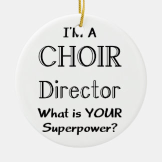 Choir director round ceramic decoration