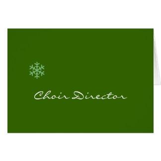 Choir Director Snowflake Card