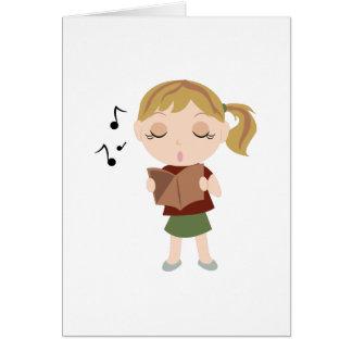 Choir Girl Card