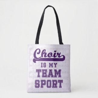 Choir is my team sport tote bag