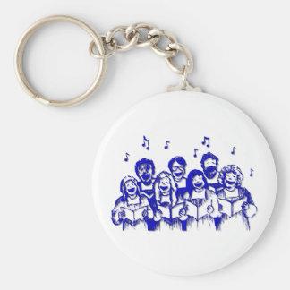 Choir members/singers key ring