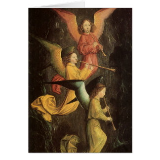 Choir of Angels by Simon Marmion, Renaissance Art Greeting Card