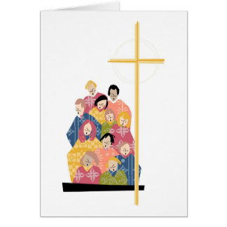 Choir Practice in Colorful Robes Card
