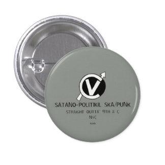 Choking Victim Satano-Politikil Ska Punk Button