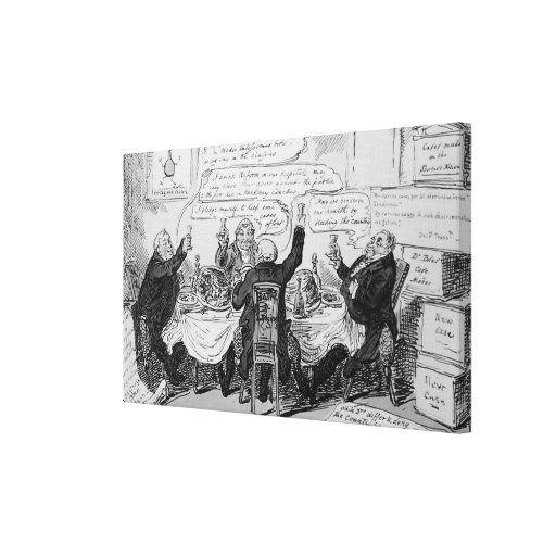Cholera Consultation at Central Board of Stretched Canvas Prints