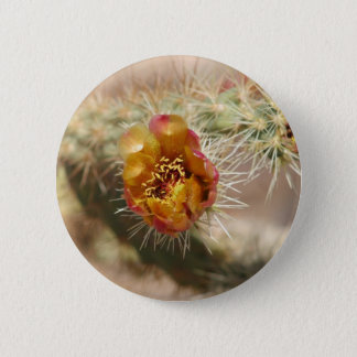 Cholla Cactus Bloom 6 Cm Round Badge