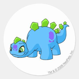 Chomby Blue Round Sticker