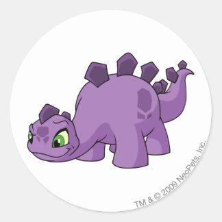 Chomby Purple Round Sticker