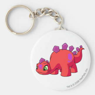Chomby Red Basic Round Button Key Ring