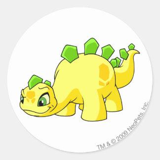 Chomby Yellow Round Sticker