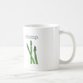 chomp. (asparagus) coffee mug