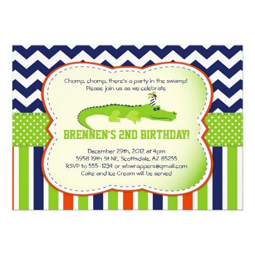 Chomp Chomp!  Alligator-Themed Party Invitations