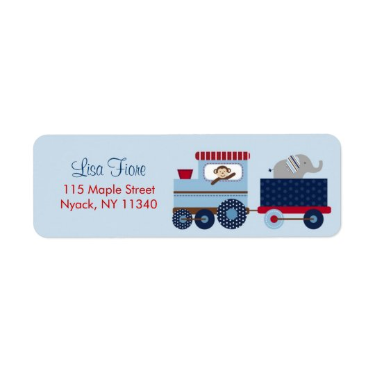 Choo Choo Animal Train Birthday Address Labels