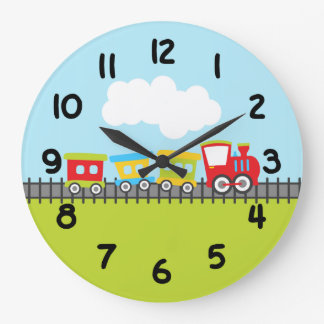 Choo Choo Chain Large Clock