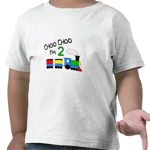Choo Choo I'm 2!  With TRAIN Tee Shirts