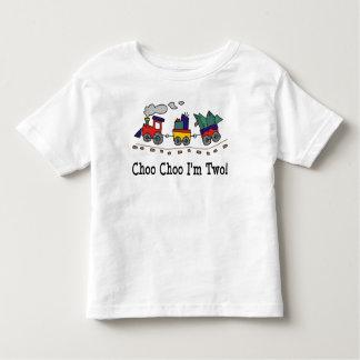 Choo Choo I'm Two Birthday T-shirt