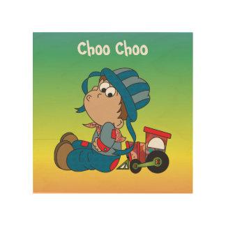Choo Choo Little Boy Wood Wall Art