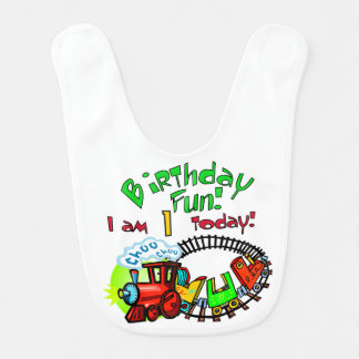 Choo Choo Train 1st Birthday Bibs