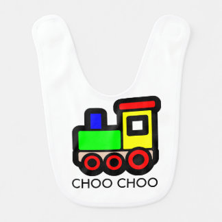 Choo Choo Train Baby Bib