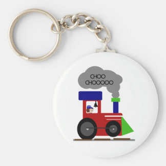 Choo Choo Train Basic Round Button Key Ring