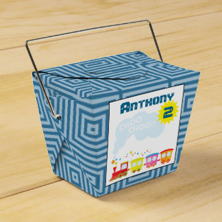 Choo Choo Train Birthday Party Favor Box