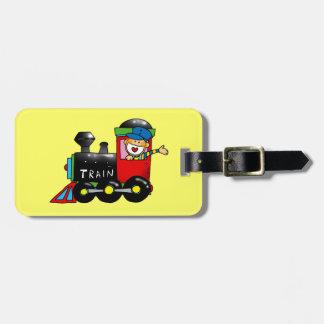 choo choo train boy luggage tag