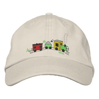 Choo Choo Train Embroidered Baseball Caps