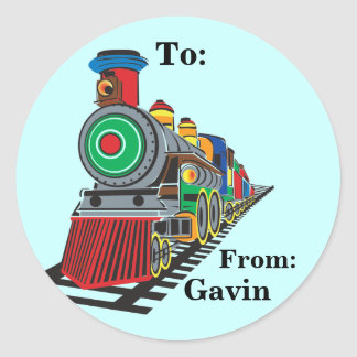 Choo Choo Train Gift Label