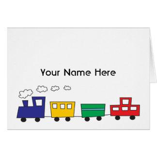 Choo Choo! Train Notes Note Card