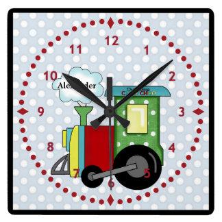 Choo Choo Train Nursery Wall Clock
