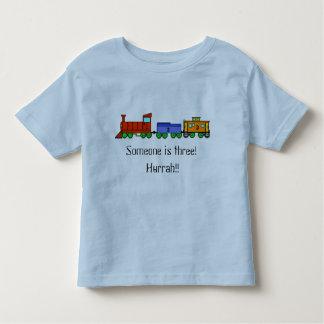 Choo-Choo Train Someone is Three T-shirt