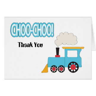 Choo Choo Train Thank You Card