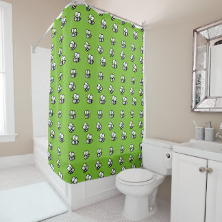 Choose A Background - Buzzing Bumble Bees Pattern Shower Curtain