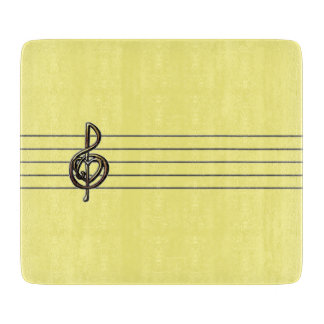 Choose a Color Embossed Look Treble Clef and Hear Cutting Board