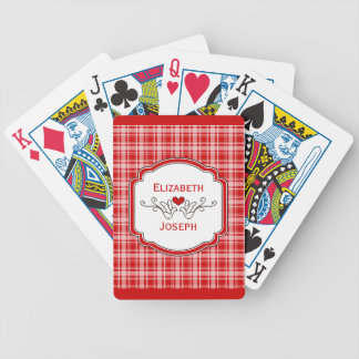 Choose Any Color Cozy Plaid Lovebird Playing Cards